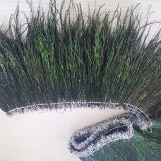Толстая тесьма из перьев павлина 15-20 см, 1м.