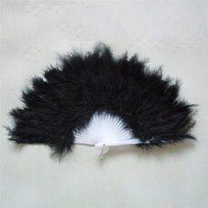 Веер из перьев Индейки - Черный цвет