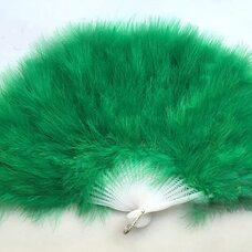 Веер из перьев Индейки - Зеленый цвет