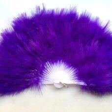 Веер из перьев Индейки - Фиолетовый цвет