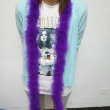 Боа марабу, Длинна 2м, 17гр. - Фиолетовый цвет