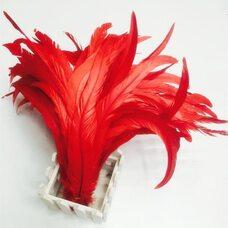 Перья петуха 35-40 см. 1 шт. Красный цвет