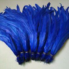 Перья петуха 35-40 см. 1 шт. Синего цвета