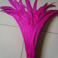 Перья петуха 35-40 см. 1 шт. Фуксия