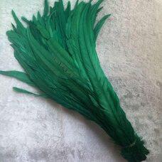 Перья петуха 35-40 см. 1 шт. Зеленый цвет
