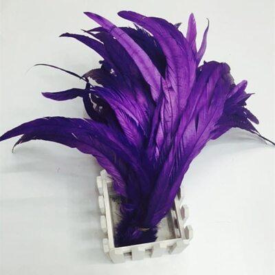 Перья петуха 35-40 см. 1 шт. Фиолетовый цвет