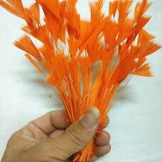 """Перья индейки """"Геометрия"""" 10-15 см. 10 шт. Оранжевый цвет"""