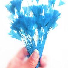 """Перья индейки """"Геометрия"""" 10-15 см. 10 шт. Голубой цвет"""
