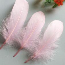 Пушистые перья гуся 13-18 см, 20 шт. Светло-розового цвета #19