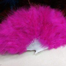 Веер из перьев Индейки - Розовый цвет