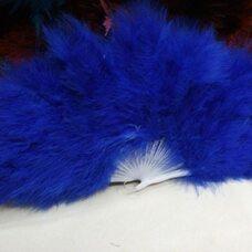Веер из перьев Индейки - Синий цвет
