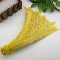 Перья петуха 30-35 см. 1 шт. Желтый цвет