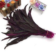 Перья петуха с отливом 30-35 см. Фуксия