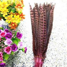 Перья фазана 30-35 см. Розовые