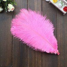 Перья страуса 30-35 см. Розовый цвет