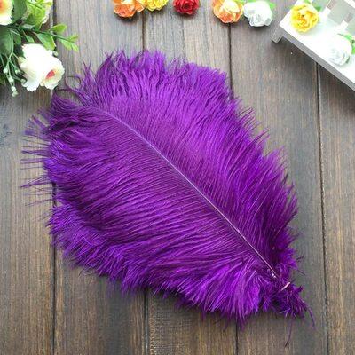 Перья страуса 30-35 см. Фиолетовый цвет