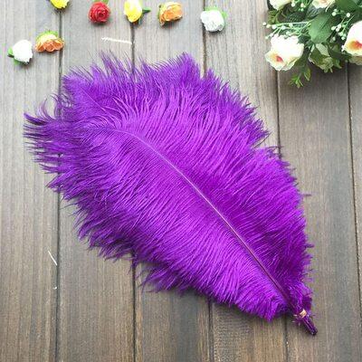 Перья страуса 35-40 см. Фиолетовый цвет