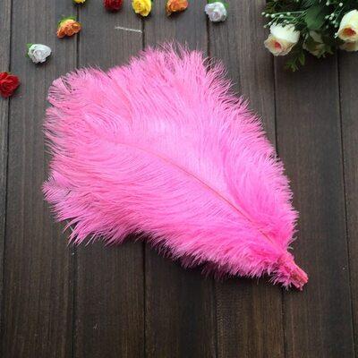 Перья страуса 35-40 см. Розовый цвет