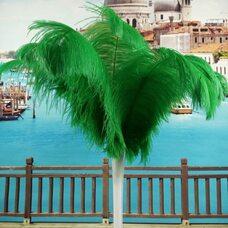 Премиум перья страуса 40-45 см. Зеленый цвет