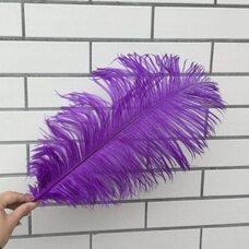 Премиум перья страуса 40-45 см. Фиолетовый цвет