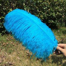 Премиум перья страуса 50-55 см. Голубой цвет