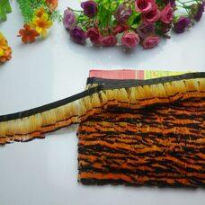 Декоративная тесьма из перьев 4 см, 1м. Натуральный цвет