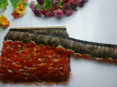 Тесьма из перьев цесарки 5-6 см, 1м. #10