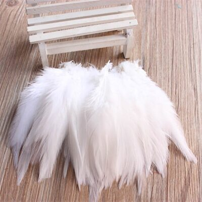 Перья петуха 10-15 см. 20 шт. Белый цвет