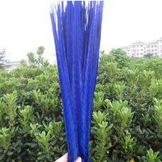 Перья фазана 40-45 см. (Хвост) 1 шт. Синего цвета