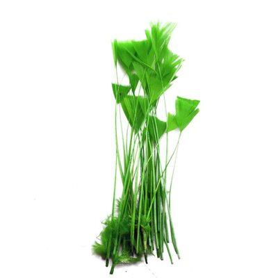"""Перья индейки """"Геометрия"""" 10-15 см. 20 шт. Зеленый цвет"""