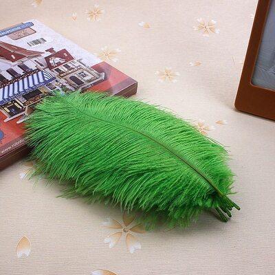 Перья страуса 15-20 см. Зеленый цвет