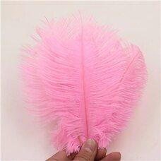 Перья страуса 15-20 см. Розовый цвет