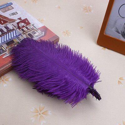 Перья страуса 15-20 см. Фиолетовый цвет