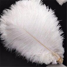 Премиум перья страуса 40-45 см. Белый цвет