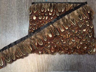 Тесьма из перьев фазана 4-5 см, 1м. #15