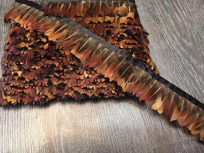 Тесьма из перьев фазана 4-5 см, 1м. 6