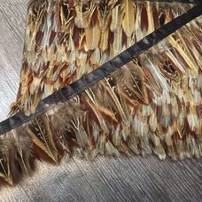 Декоративная тесьма из перьев 4-5 см, 1м. #8