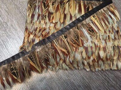 Тесьма из перьев фазана 4-5 см, 1м. #8