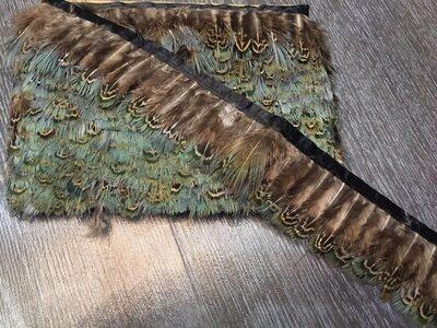 Декоративная тесьма из перьев 4-5 см, 1м. #9