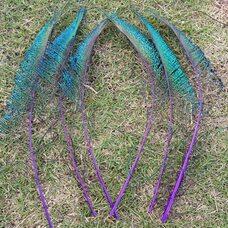 Перо павлина меч 30-35 см. 1 шт. Фиолетовые