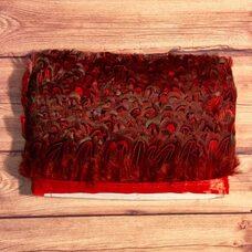 Тесьма из декоративных перьев Pheasаnt 5 см, 1м. - Красный цвет