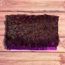 Тесьма из декоративных перьев Pheasаnt 5 см, 1м. - Фиолетовый цвет