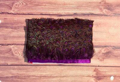 Тесьма из перьев фазана 5 см, 1м. - Фиолетовый цвет