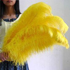 Премиум перья страуса 65-70 см. Желтый цвет