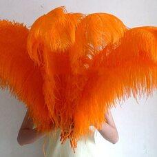 Премиум перья страуса 65-70 см. Оранжевый цвет