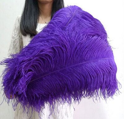 Премиум перья страуса 65-70 см. Фиолетовый цвет
