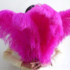Премиум перья страуса 65-70 см. Фуксия