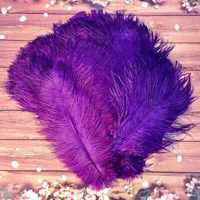 Перья страуса 25-30 см. Фиолетовый цвет