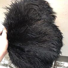 Перья страуса 30-35 см. Черный цвет