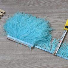 Тесьма из перьев страуса 8-10 см, 1м. - Светло-голубой цвет